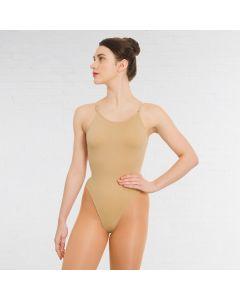 Silky Body con Spallina Fina Senza Cuciture e Scollatura Posteriore