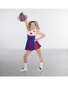 Abito Cheerleader con Stelle - Multicolore