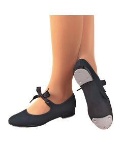 Capezio Jr Tyette Scarpa Tap in Canvas - Nero