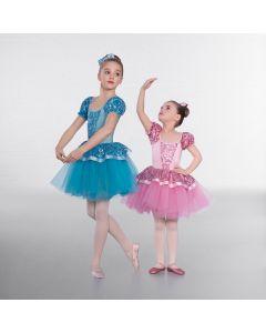 1st Position Abito da Danza Classica Floreale con Lustrini da Principessa