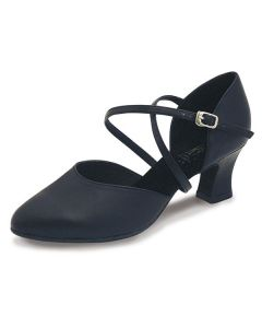 Roch Valley Anceta Ladies Ballroom Leather Shoe with X-Straps Upper 2.2 inch Social Heel