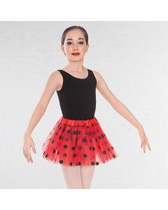 Triple Layered Red Net Polka Dot Tutu Skirt
