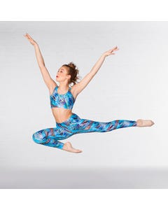 1st Position Leggings Stampa Geometric Rainbow