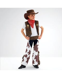 Costume Cowboy (Stampa Mucca) Bimbi